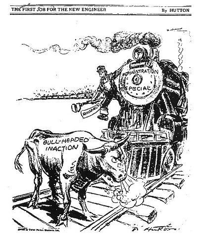 Fdr Political Cartoon New Deal